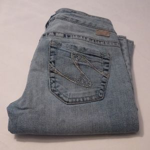 Silver Tuesday Light Wash Bootcut Jeans, Size 28